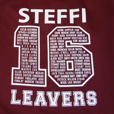 personalised leavers hoodies
